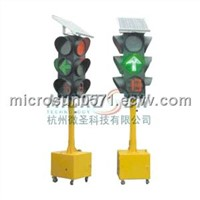 Solar LED emergency traffic signal light