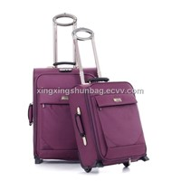beautiful pink travel trolley luggage for lady