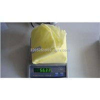 disposable isolation gown with yellow