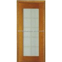 wooden glass door FJ-044B