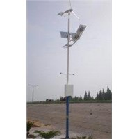 100W solar and wind 12 / 24V ac hybrid off grid street lighting for communication, traffic