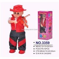 12 inch palstic doll with IC music