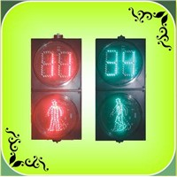 "200mm(8"") LED Pedestrian With Countdown Timer Traffic Light (RX200-3-25-1D"