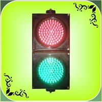 200mm Small Lens Red + Green LED Traffic Light (JD200-3-25-3A)