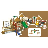 Amusement Outdoor Playground /Wooden Playground (KYP-11902)