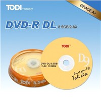 Blank DVDs/Double Layers with 8x Recording Speed, 8.5GB Memory Capacity and 240Min Playing Time