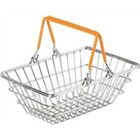 Metal or plastic Supermarket Shopping Trolleys Mini Shopping Baskets HBE-MB-1