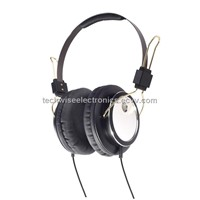 Metallic Headphone with microphone for computer
