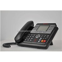 SC-6035HE IP Phone with 3SIP account, IAX2, SMS and HD voice, PoE (optional)