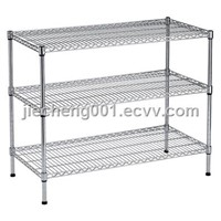 Zinc plated wire shelving