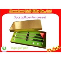 supply Good promotion gift novel Mini golf ball pen with logo