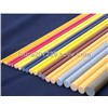 different color surface glass fiber solid rod