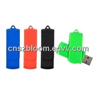 8GB USB 2.0 Flash Drives, Hard Plastic Case with Plastic Swivel
