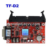 Large TF-D2 LED display control card,support P10 full color signature