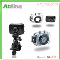 ACF5 HD 720P 1.3M Waterproof Bike helmet camera with 2.0inch LCD display