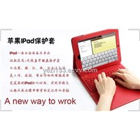 Bluetooth Keyboard with Protective PU Leather Case for Apple iPad