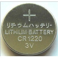 CR1220  button cell battery , coin cell  , lithium battery