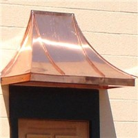 Copper Awning for Door-06