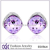 Crystal stud earring made with swarovski elements