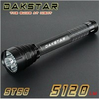 DAKSTAR ST56 XML T6 5120LM 26650 or 18650 Aluminum Tactical Rechargeable LED CREE Police Flashlight
