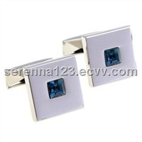Gold Plated cufflink with Black crystal