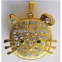 Hot Gift Hello Kitty Jewelry USB with Diamond