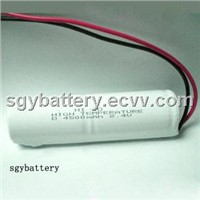 Ni-CD D4500mAh 2.4V high temperature battery pack
