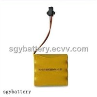 Ni-Cd AAA 300mAh 4.8V battery pack