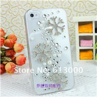 Nice winter snowflakes mobile phone transparent case for iphone christmas gifts