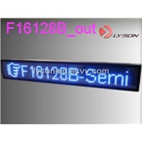 P7.62mm DIP 16*160 Pixels Blue Color Standard Display Screen