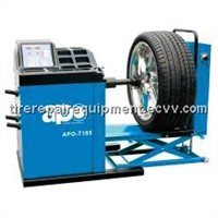 Truck Wheel balancer APO-T185( Manual operated distance and wheel diameter measuring system)
