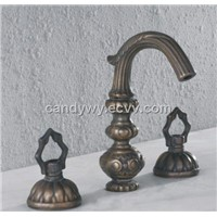 Two Handles Widespread Bathroom Antique Basin Faucet (F-5001)