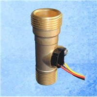 "Ultisolar G3/4""*G1/2"" DN25*DN20mm Brass Hall Water Flow Sensor USC-HS43TA 1-60L/min"