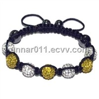 White Citrine Color Shamballa Bracelet with wholesale price