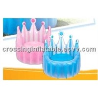 crown inflatable chair for kids