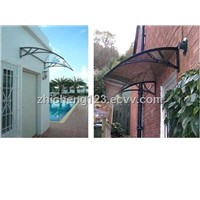 plastic alloy brackets, Ploycarbonate awning,PC window, door canopy, awning