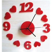 special design acrylic handmade wall clocks
