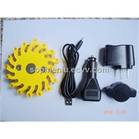 traffic warning lights LED Rechargeable The LED warning light on road safety pack