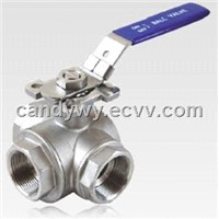 3-Way Ball Valve with Mounting Pad