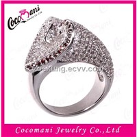 925 sterling silver jewelry/romantic diamond heart wedding ring
