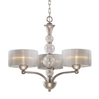 Alexis 3-light Chandelier In Antique Silver VT2008-3 for dining room decorate