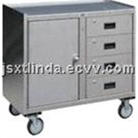 All Stainless Steel Cabinets with Drawers
