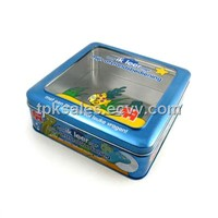 Cake tin,sweets box,cake tin can,cake container,cake canister clear lid tin box