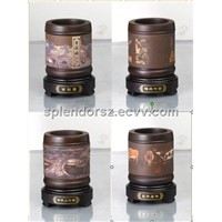 Ceramic / Pottery Zisha handicraft(pen holder),  indoor air cleaner, decoration & gift