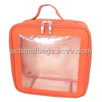 Clear PVC window cosmetic bag