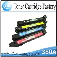 Color toner cartridge CB380A use for HP color laserjet CP6015