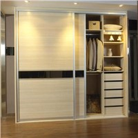 Factory Customize Modern Wooden Sliding Door Wardrobe