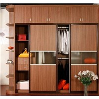Factory Customize Sliding Door Wardrobe with Hang Cabinet