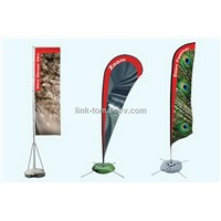 Flag banner with logo printed