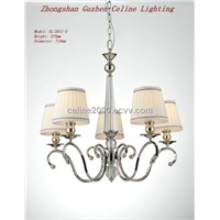 Iron chandelier with crystal